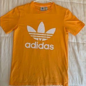 Bright yellow adidas T-shirt
